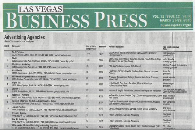 Logical Position in Las Vegas Business Press | Veracity Marketing