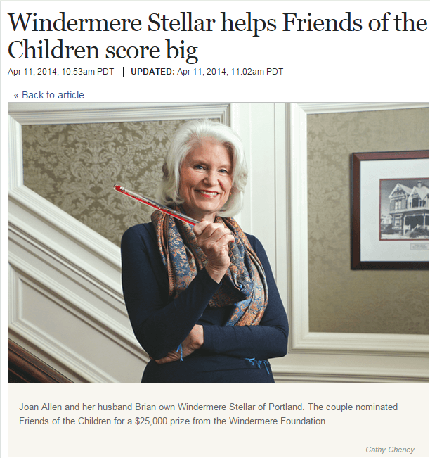 Windermere Stellar in Portland Business Journal