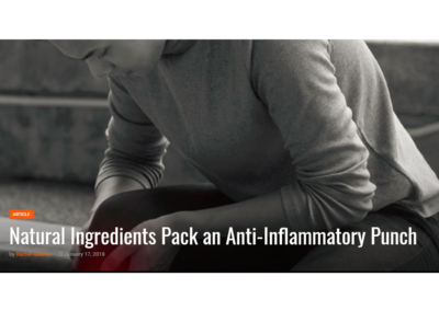 Natural Products Insider: Natural Ingredients Pack an Anti-Inflammatory Punch